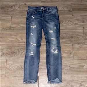 Express light fade distressed jeans